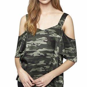 Open Shoulder Sweatheart Blouse
